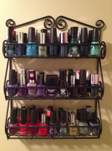 My new nail polish rack!